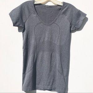 Lululemon grey be neck Swiftly tech top shirt 6